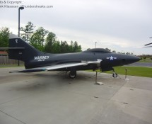 Grumman F-9F 127487 is on display at Havelock (NC) in May2012 (FK)