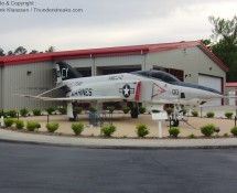 RF-4B Phantom is pisplayed in Havelock (NC) in May 2012 (FK)