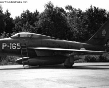P-165; it was w.f.u. in 1970 and was some years as a decoy at Leeuwarden AB (FK)