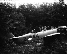 KLu Harvard B-44 near the 314 sqn dispersal area of Eindhoven AB in 1967 (FK)