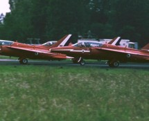 folland gnat demoteam the-red-arrows-raf-bevekom-25-6-1972-j-a-engels