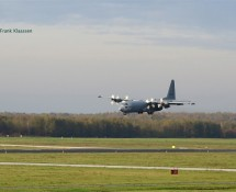 G-273, C-130H Hercules approaching EHEH on 11-11-2014 (FK)