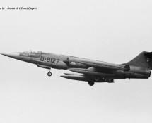 RF-104G D-8127 K.Lu. 306 sq. Twenthe 20-6-1968 J.A.Engels