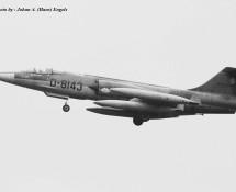RF-104G D-8143 K.Lu.  306 sq. Twenthe 20-6-1968 J.A.Engels