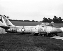 Sabre 2-13 ex ItAF, displayed as 19607 in the UK around 1970