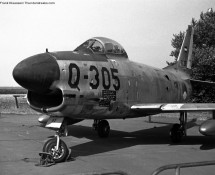 F-86K Sabre , Deelen 1973 (FK)