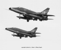 F-100D formation . USAFE . Lakenheath . 1970 (HE)