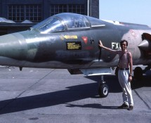 fx96-hans-en-een-belgische-f-104g-kleine-brogel-open-dag-28-juni-1986