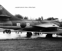 hunter fga.9-xe552 (r) raf -laarbruch-29-9-1973-j-a-engels