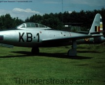 Thunderjet KB-1/FS2 as a monument a Kleine Brogel in 1978 (FK)