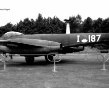 gloster meteor-f-8 - k.lu.-i-187-monument-soesterberg-17-6-1967-j-a-engels