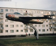 Mig-15 (Lim-2) in the town op Pila (PL) in 1995 (FK)