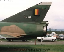 Mirage 5BA BA-26 alongside highway E-311 near Libin in april 1995 (FK)