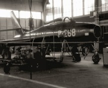P--268 in the maintenance hangar during the 1967 Eindhoven Open Day (FK)