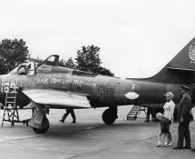 P-169 was a decoy at Leeuwarden; it was used to underline the last flight of a squadron commander at Leeuwarden in 1973 (photo coll FK) str