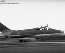 1969 Super Sabre O-63952 USAFE , Eindhoven , 6-8-1969 (FK)