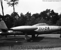 Thunderjet DU-24 is seen here gate-guarding Gilze-Rijen AB from 1964-1969;