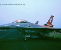 F-16A J-215 K.Lu. 322 sq.(50 jaar) Eindhoven 7-1993 J.A.Engels