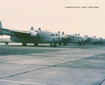 Fairchild C-119 Flying Boxcar CP11 (OT-CAK) fl.line Brussel-Melsbroek 28 -7-1972 J.A.Engels