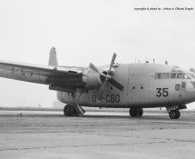 Fairchild C-119 Flying Boxcar CP35 (OT-CBO) Brussel-Melsbroek 28-7-1972 J.A.Engels