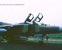 MIG-23 15 (tweezitter) Hongaarse LM Eindhoven 3-7-1993 J.A.Engels