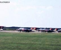 Saab 105 20-  flight-line Zweedse LM  EHV 10-6-1970 J.A.Engels