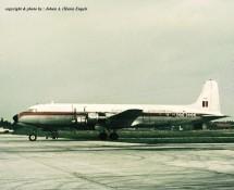 douglas dc-6 -ky-3-ot-cdc-brussel-melsbroek-28-7-1972-j-a-engels