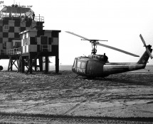 German UH-1D 7097 with the Vliehors tower.