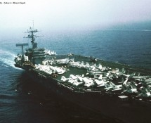 USS NIMITZ mid-ship (view from CH-46) (HE)