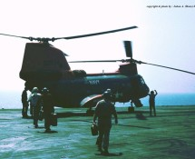 CH-46 Sea Knight before departure back to Sigonella (HE)