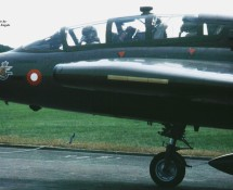 (warbird) saab-draken-tf-35-oy-ska1-ex-at-158-deense lm oostmalle-1996-j-a-engels