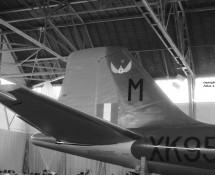 Canberra XK951 staart (met embl. 14 sq.) Wildenrath 6-7-1968 J.A.Engels