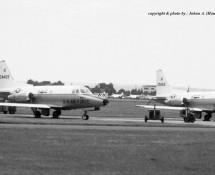 North American T-39 Sabreliner 24469 en 10665 USAFE Wiesbaden 13-6-1971 J.A.Engels
