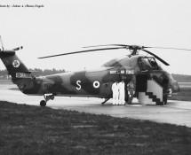 Westland Wessex XV724 S (tbv VIP-vervoer)RAF Wildenrath 6-7-1968 J.A.Engels