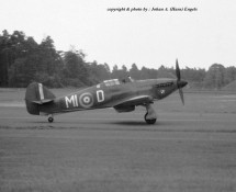 (warbird) Hawker Hurricane MI-D RAF BoB Mem.Flt. Wildenrath 6-7-1968 J.A.Engels