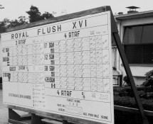 (1) Ramstein 11-6-1971 (scorebord NATO Royal Flush) J.A.Engels