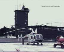 (1) Ramstein ATC + Kaman Huskie 24546 USAFE  Ramstein Germany  11-6-1971 J.A.Engels