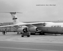 C-141 Starlifter 40613 USAF Ramstein 12-6-1971 J.A.Engels