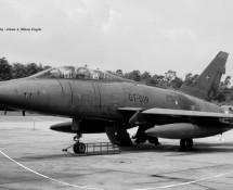 F-100F Deense LM GT-019 (64019) Ramstein 12-6-1971 J.A.Engels