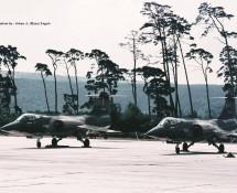 F-104G FX-51 en FX-68 Belg.LM The Slivers Ramstein 12-6-1971 J.A.Engels
