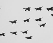 F-4 F-4E & F-4D Phantom II-formatie USAFE Hahn 10-6-1971 J.A.Engels