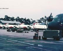 F-4E Phantom II demoteam Thunderbirds USAF fl.line + Support C-130 Hercules Ramstein 11-6-1971 J.A.Engels