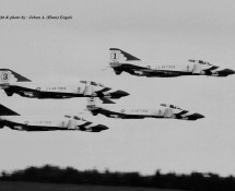 F-4E Thunderbirds-formatie USAF Hahn 10-6-1971 J.A.Engels