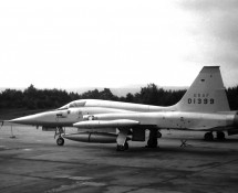 Northrop F-5A 01399 USAF (on delivery to HAF) USAF Ramstein 1971