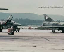 Mirage 3R 33-NF + 33-NJ Franse LM Ramstein 12-6-1971 J.A.Engels