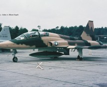 Northrop F-5B 01613 USAF (on del.to I.I.A.F.) Ramstein 11-6-1971 J.A.Engels
