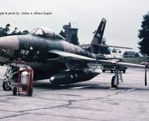 Thunderflash RF-84F FR-21 Belg.LM Ramstein 11-6-1971 J.A.Engels