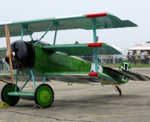 Fokker Dr.3 (replica) at Creil (F) in May 2016 (FK)