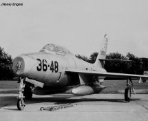 F-84F 36th Wing , Italian AF (CHE) (photo by : Th.de Brouwer)