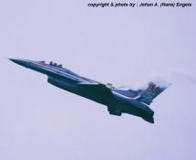 F-16 demo. K.Lu. , Deelen 1988 (HE)